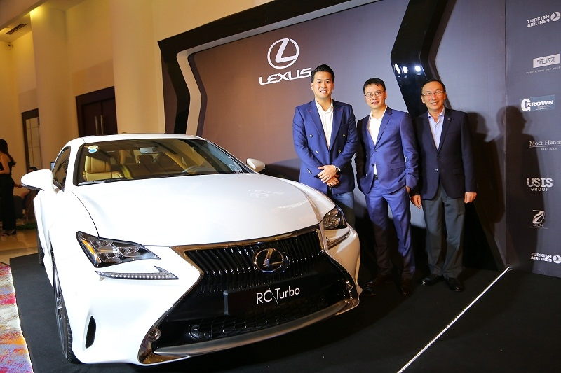 lexus rc turbo xuat hien tai da tiec ceo night 2016