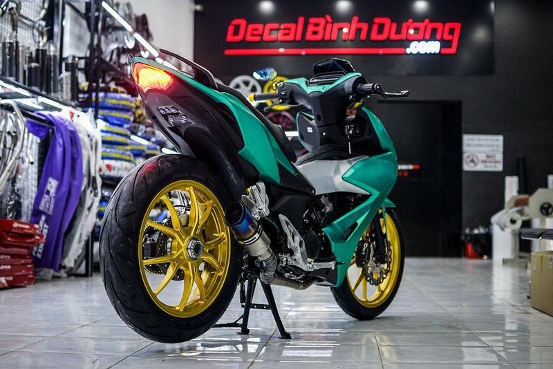 biker binh duong do winner x gap don cap mam vang bat mat