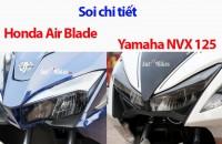 so sanh chi tiet honda air blade va yamaha nvx 125