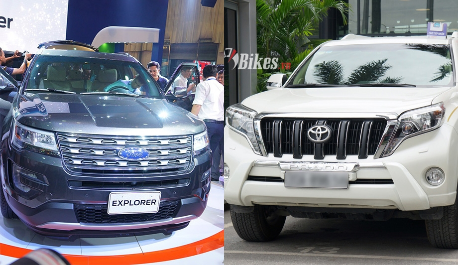 so sanh ford explorer va toyota prado