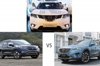 so sanh nissan x trail voi mazda cx 5 va honda cr v p2