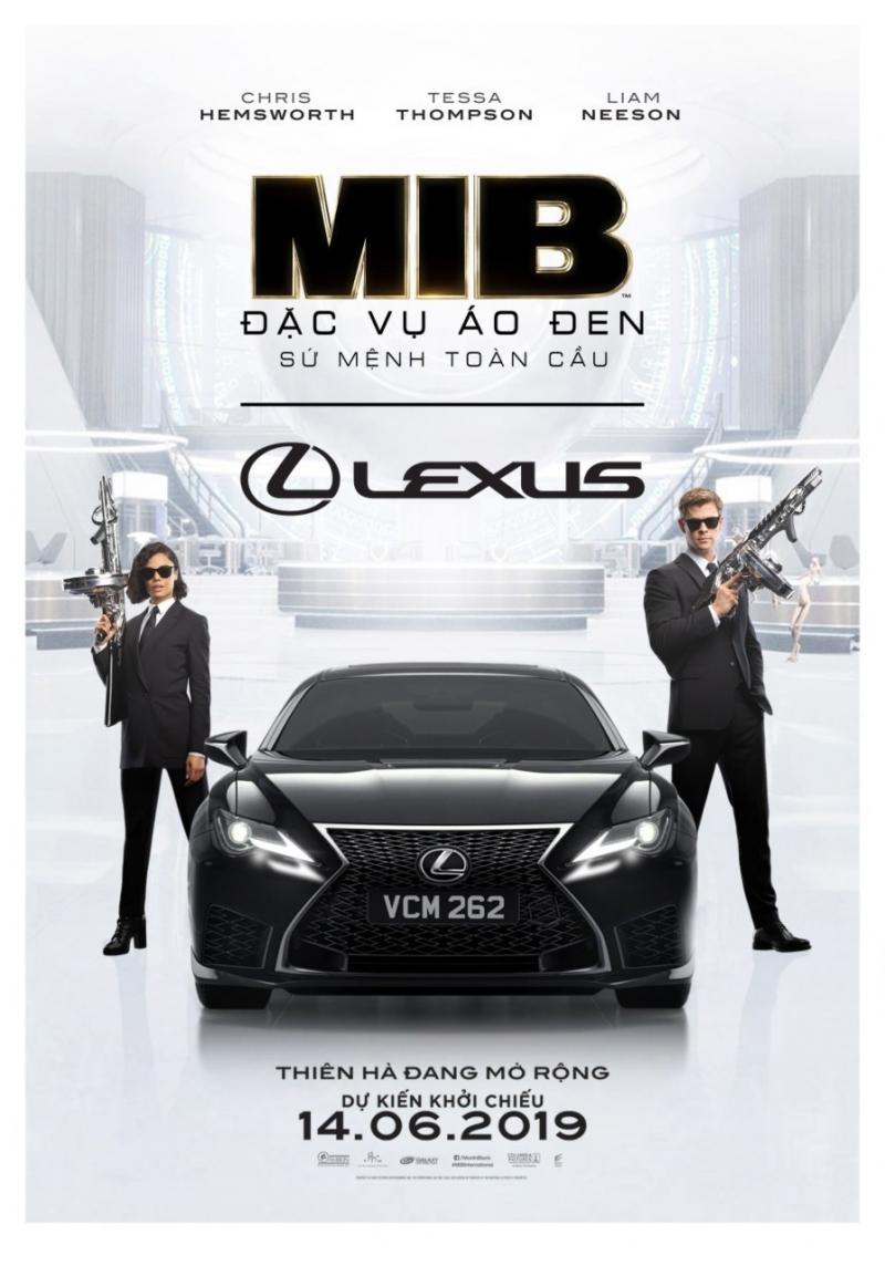lexus rc f gop mat trong phim mib dac vu ao den su menh toan cau