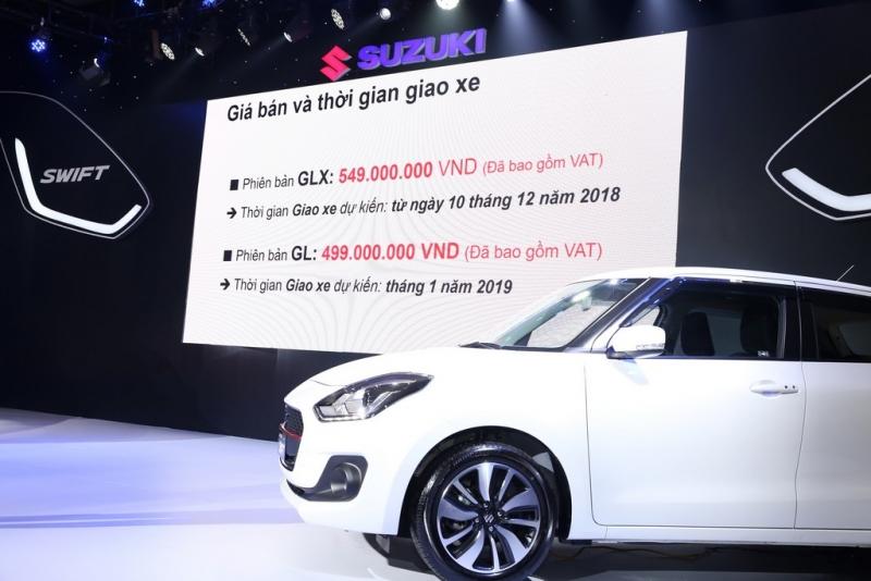 suzuki swift 2019 ra mat gia tu 499 trieu dong