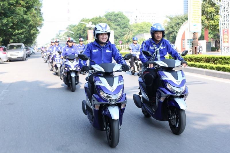 yamaha to chuc hanh trinh xuyen viet blue core touring