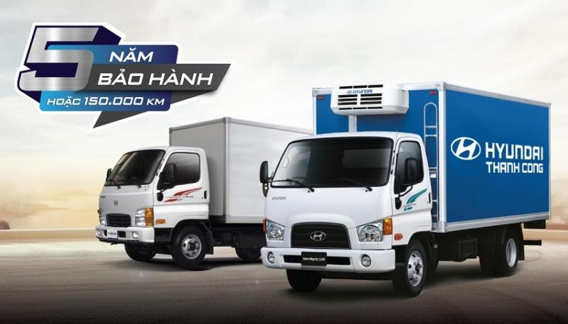 xe thuong mai hyundai mo rong he thong tang bao hanh 5 nam