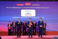 Toyota Việt Nam nhận giải thưởng Rồng Vàng 2021