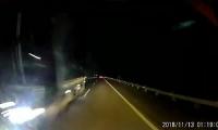 video phan no truoc canh tai xe phong nguoc chieu tren cao toc