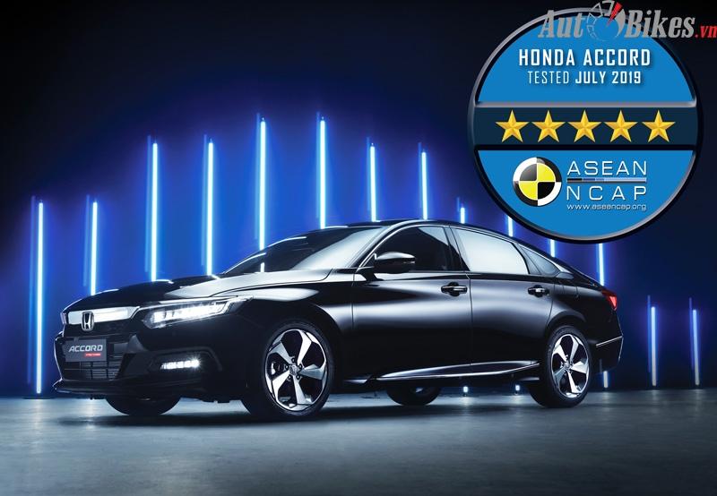 Honda Accord 2020 đạt chứng nhận an toàn 5 sao ASEAN NCAP