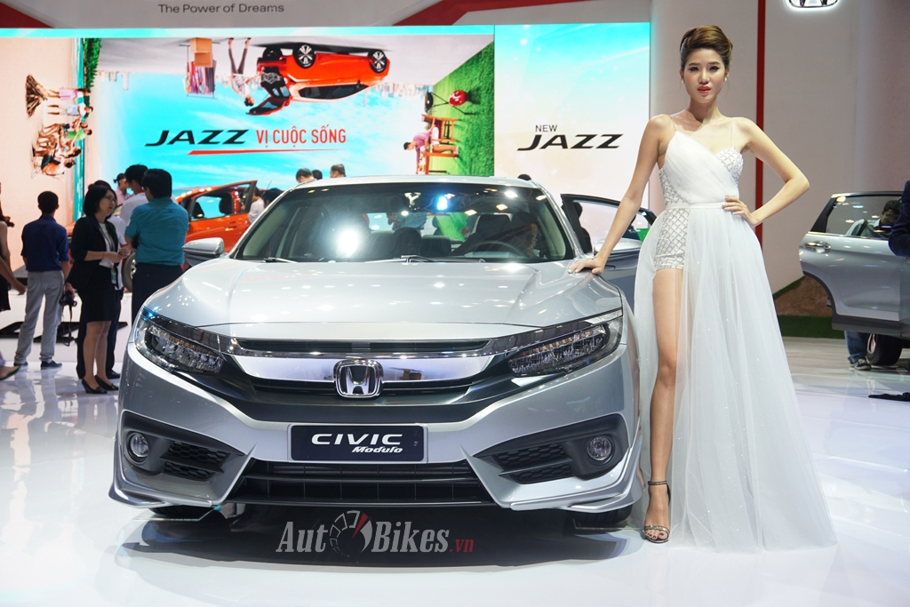 honda civic 2017 the thao voi bo phu kien modulo