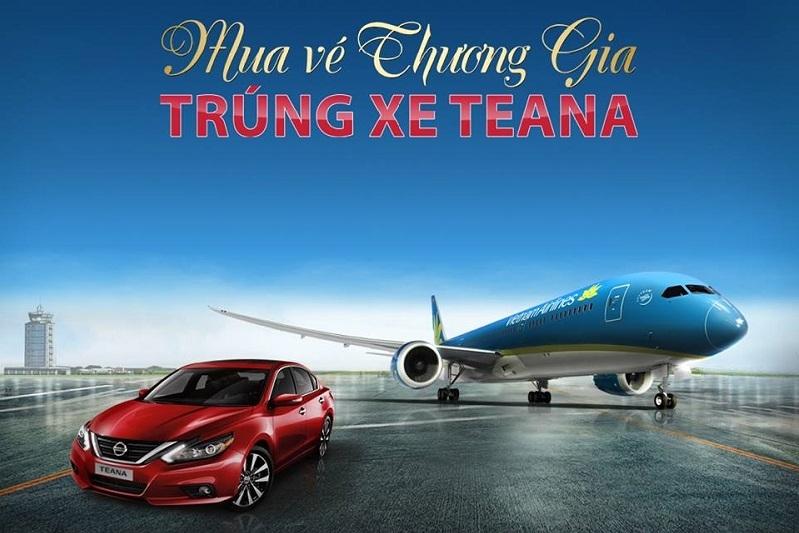 bay vietnam airlines trung xe nissan teana 2017