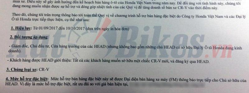 rung dong gia honda cr v giam manh xuong 730 trieu dong